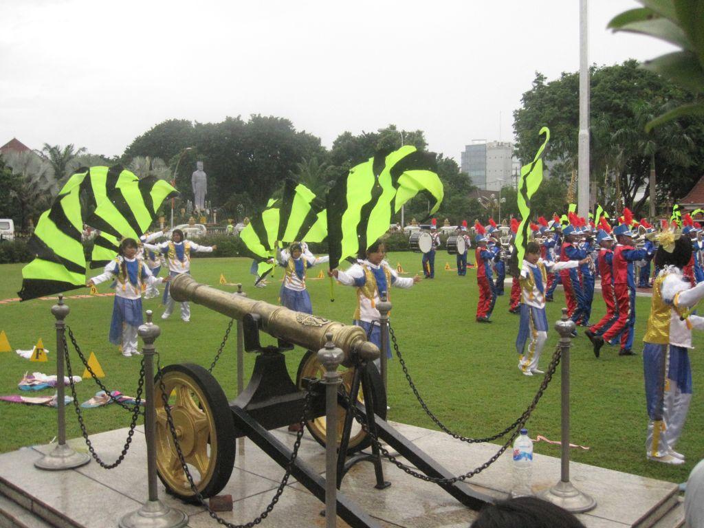 Parade im Park