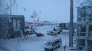 am Münchner Flughafen im Winter