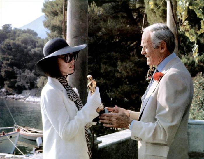 Marthe Keller und Henry Fonda