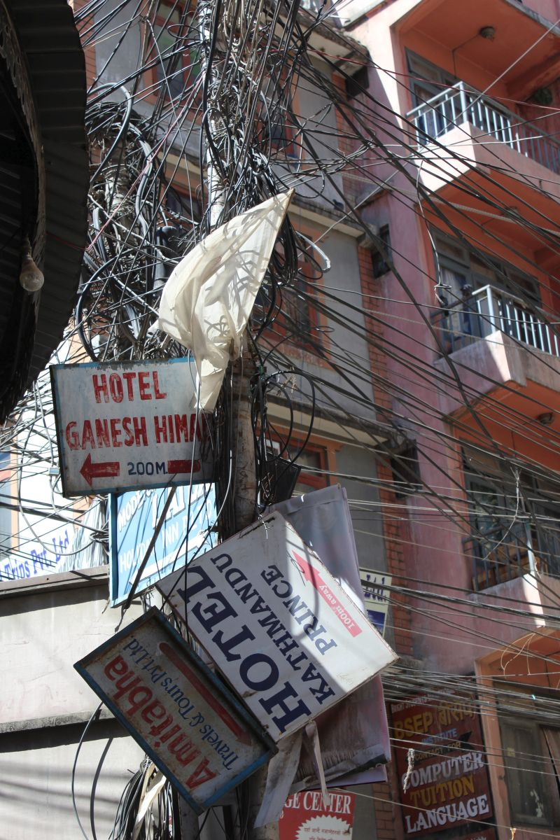 """die """"Stromversorgung"""" Kathmandus"""
