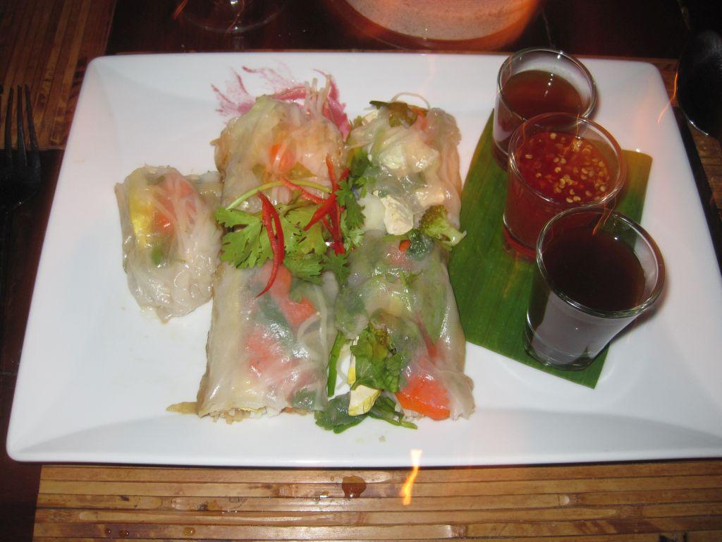 vegetarische Köstlichkeiten aus dem Zeavola-Restaurant