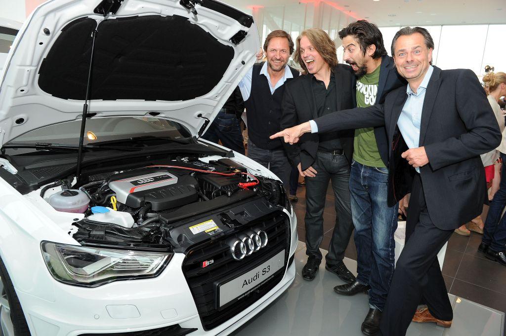 Winfried Frey, Milos Malesevic, Adrian Can und Michael Sporer -