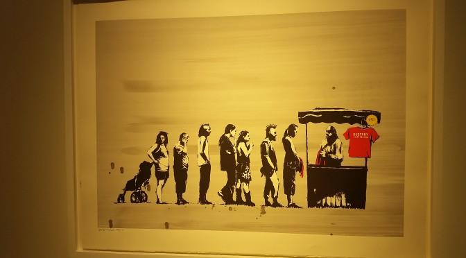Banksy´s Streetart in der Galerie Kronsbein, ein Muß in München!