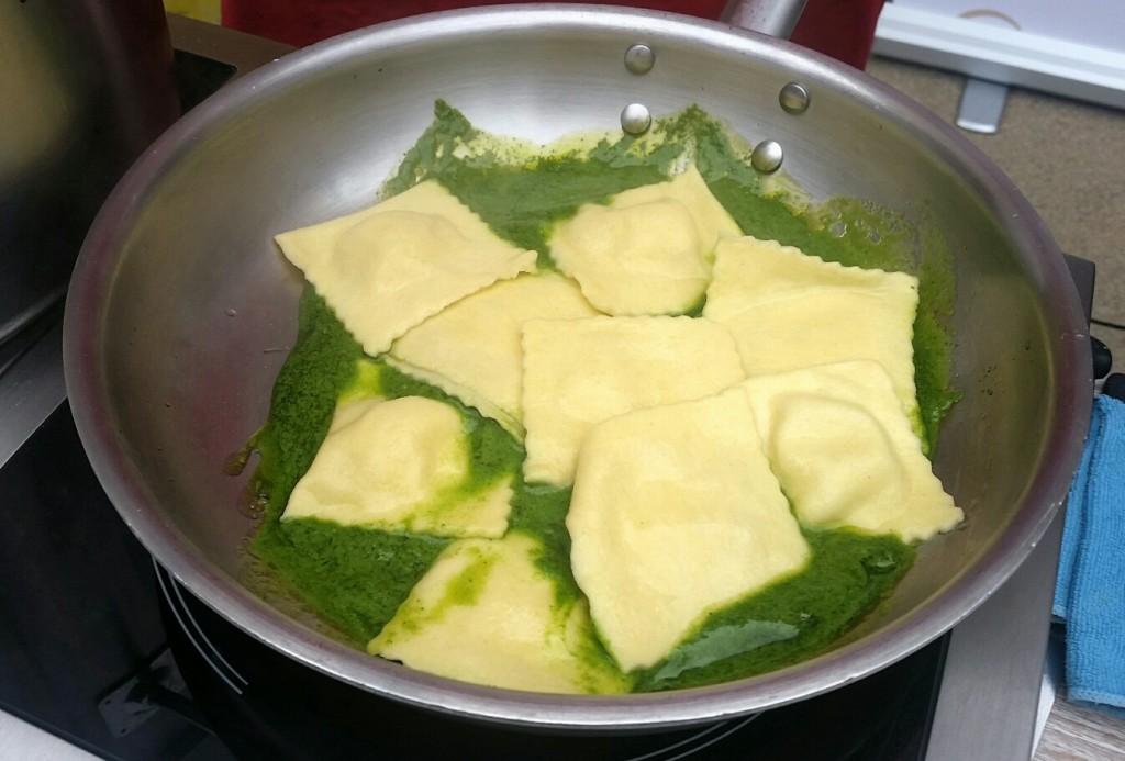 frische Pesto-Pasta