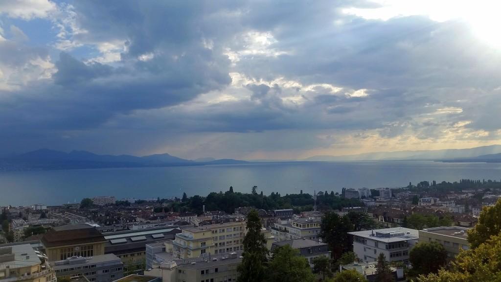 Blick auf den Genfer See von unserer Suite Foto: DK