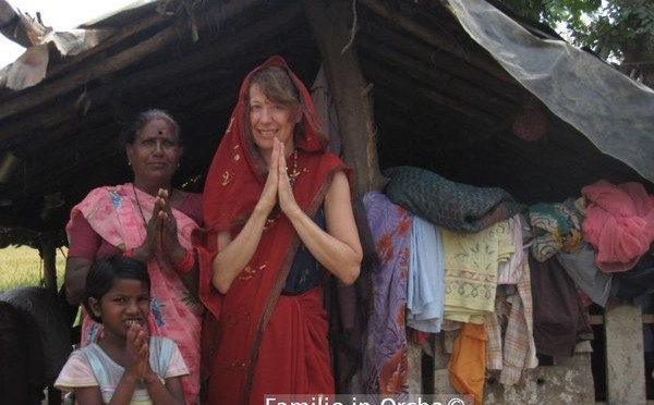 Doris in Orcha, Indien