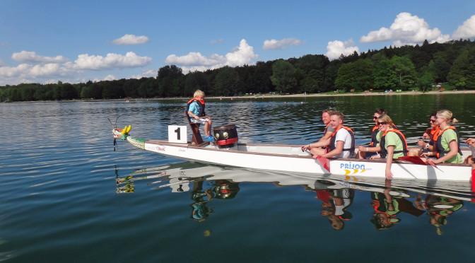 Harmonie und Rhythmus bewiesen die Gastronomen beim Drachenbootrennen 2014