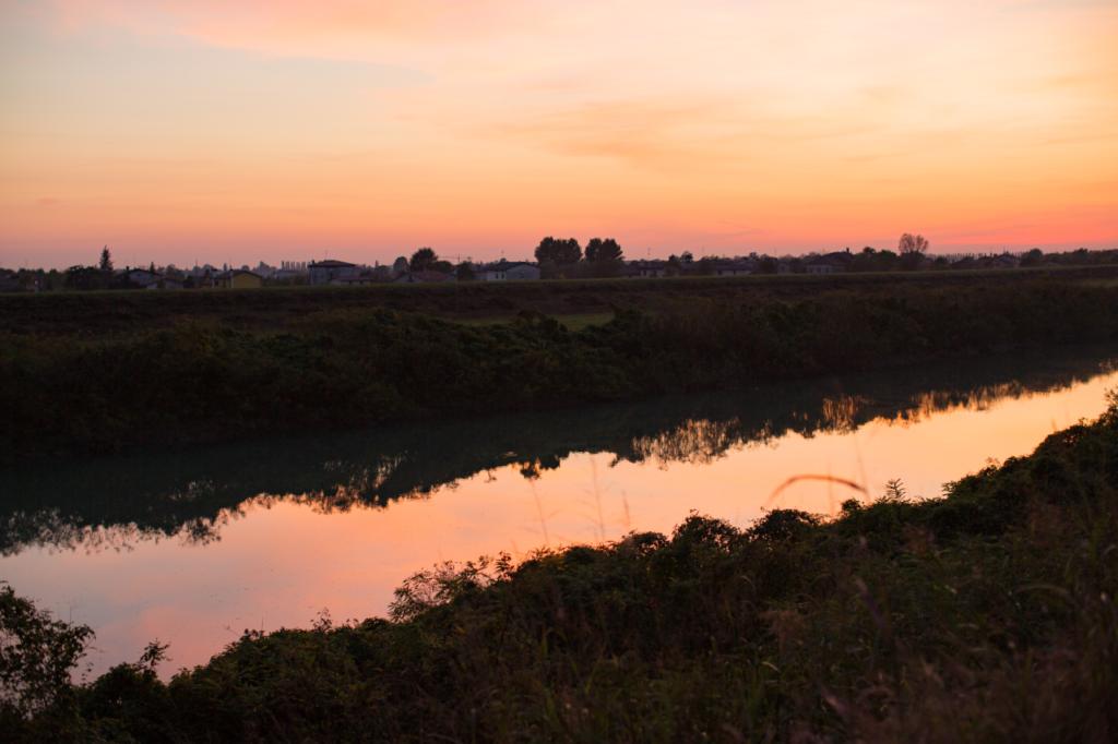 Sonnenuntergang im Veneto, Italien